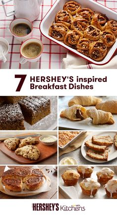 Start your day on a happy note with these seven delicious breakfast dishes from HERSHEY'S. Whether you crave scones or sticky buns in the morning, these easy-to-make dishes are the ultimate way to wake up.