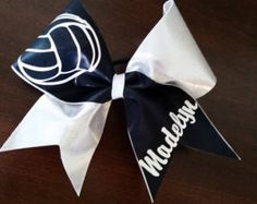 Volleyball Bow by ThingsToCheerAbout on Etsy