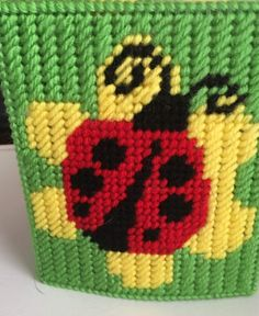 Excited to share this item from my shop: Ladybugs Tissue Box Cover Plastic Canvas Stitches, Plastic Canvas Tissue Boxes, Plastic Canvas Crafts, Plastic Canvas Patterns, Needlepoint Patterns, Crochet Blanket Patterns, Cross Stitch Patterns, Plastic Bottle Crafts, Tissue Box Covers