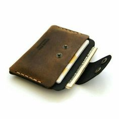 This item is unavailable Slim Leather Wallet with cash and credit card от AtelierPall Leather Front Pocket Wallet, Slim Leather Wallet, Slim Wallet, Leather Gifts, Leather Craft, Diy Leather Card Holder, Leather Work Bag, Saddleback Leather, Personalized Leather Wallet