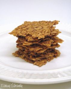 Raw flax crackers - easy to make and so versatile: flax seed, flax meal, water, tamari, agave, onion and garlic powder