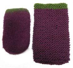 Handytasche stricken und verfilzen