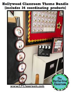Clutter-Free Classroom: Hollywood Themed Classroom Photos, Printables and Ideas for Decorating 34 Products (including EDITABLE files) for only $12.00!!