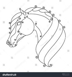 Image result for stylized horse #StainedGlassHorse