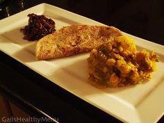 Chickpea & Potato Curry with Onion Sambol and Whole Wheat Roti - VEGAN