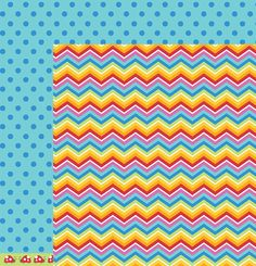 American Crafts - Pebbles - Party with Amy Locurto - 12 x 12 Double Sided Paper - Over The Rainbow at Scrapbook.com $0.99