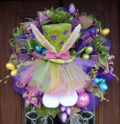 spring wreaths | How To Make An Easter Deco Mesh Wreath Spring Deco Mesh Wreath | Apps ...