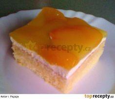 Milouškovy oblíbené broskvové řezy Cheesecake, Sweet, Food, Candy, Cheesecakes, Essen, Meals, Yemek, Cherry Cheesecake Shooters