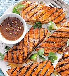 Miso-Ginger Grilled Salmon: Marinate the fish for at least a half hour and up to 2 hours for the best flavor. I like to grill the fish for the ultimate umami flavor profile. So simple...and delicious!
