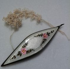 tatting shuttle guilloche enamel - Google Search