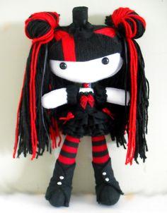 Izumi by on deviantART Zombie Dolls, Voodoo Dolls, Creepy Dolls, Creepy Stuffed Animals, Chica Punk, Homemade Dolls, Crochet Dragon, Gothic Dolls, Monster Dolls