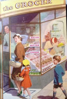 Shopping With Mother Drawing Art, Art Drawings, Ladybird Books, Children's Book Illustration, Cartoon Kids, Evergreen, Illustrations Posters, Nook, Vintage Art