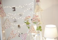 fairy lights + bunting