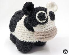 Cow toy. Amigurumi crochet. Pattern for Cow and Calf crochet pattern is available in my Etsy shop - Baron de Labry Emporium #barondelabry #barondelabryemporium #crochet #mencrochet #amigurumi #toy #cow #pattern