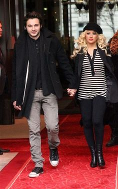 Christina Aguilera and her fiancee Matthew Rutler!