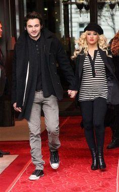 Christina Aguilera and her fiancee Matthew Rutler!