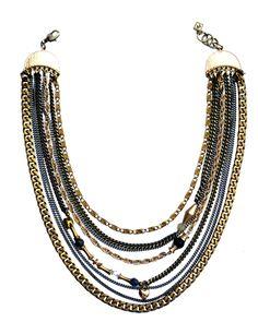Rock Star Necklace Star Necklace, Beaded Necklace, Red Carpet Ready, Swarovski Crystal Beads, Fall Winter 2014, Lapis Lazuli, Labradorite, Antique Brass, Designers