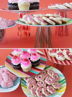DIY Cake Stands (made with plates, glasses, and glue!)