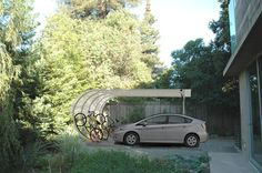 Modern curbed carport