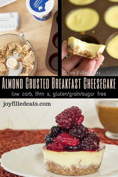 Cheesecake for breakfast? Oh yes! This is packed with protein so you can eat it guilt free! My Almond Breakfast Cheesecake is low carb, sugar/grain/gluten free, & THM S.