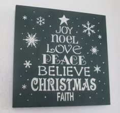 Wooden Christmas Tree Sign Holiday Decor by WyliesWhimsicals