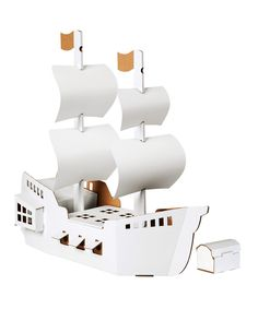 Build Decorate Pirate Ship Treasure Chest by Calafant