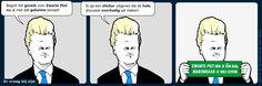 7. April 2014. Heute entdeckt. Böse Cartoon-Reihe in der Volkskrant: Prostress.