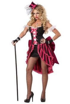 A Saloon Girl Costume For Halloween