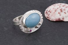 Amazonite ring  sterling silver and gemstone от FirepanJewellery