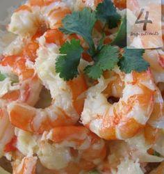 Creamy Garlic Prawns from 4 Ingredients Shrimp Recipes, Snack Recipes, Healthy Recipes, Food Shrimp, Savoury Recipes, Creamy Garlic Prawns, Garlic Shrimp, Ways To Cook Shrimp, Shrimp And Lobster