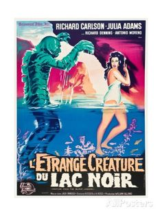 """Black Lagoon, 1954, """"Creature From the Black Lagoon"""" Directed by Jack Arnold Giclee Print - AllPosters.co.uk"""