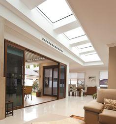 Find VELUX 665 x Flat Roof Skylight at Bunnings Warehouse. Modern Skylights, Flat Roof Skylights, Small Living Rooms, Living Room Designs, Living Room Decor, Skylight Design, Partition Design, Ceiling Design, Living Room Arrangements