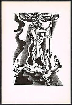 1920s-Vintage-Artzybasheff-Jamshid-Persian-Arab-Man-Woodcut-Art-Deco-Print
