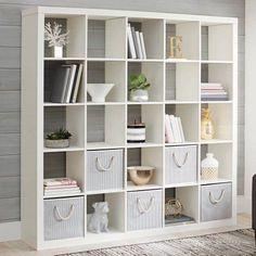 Large 25 Cube Bookcase Bookshelf Storage Shelves Organizer Room Divider White -Bookshelves - Ideas of Bookshelves Room Divider Headboard, Room Divider Shelves, Bamboo Room Divider, Glass Room Divider, Room Divider Walls, Bookshelf Storage, Cube Bookcase, Cube Shelves, Cube Storage