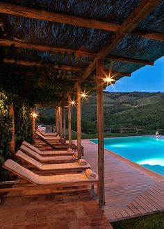Rustic-luxe hilltop farmhouse set on an award-winning wine estate in southern #Tuscany. #jetsettering