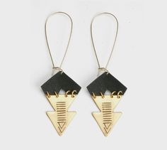 Leather / metal Arrow Earrings