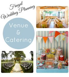 Trying to plan a wedding on the cheap?  Here are some tips for frugal wedding venue and catering.