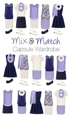 """Capsule Wardrobe: Navy and Lavender"" by mary-grace-see on Polyvore featuring Paule Ka, New Look, Brave Soul, Dorothy Perkins, ..,MERCI, Le Nom, Jacques Vert, Lands' End, Manon Baptiste and Burberry"