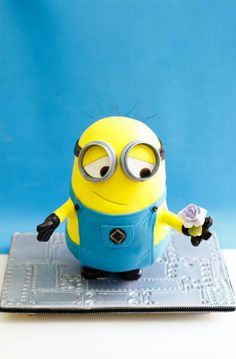 Minion picking flower for his girl - aweeeee