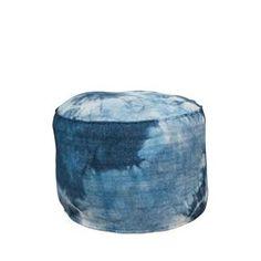 Pouf rond tissu Tie Dye