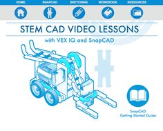 The STEM CAD VEX IQ Workbook Bundle provides teachers with the tools and information they need to use SnapCAD as an educational tool. Vex Robotics, Robotics Club, Stem Learning, Teacher Tools, Robots, Happy Holidays, Dj, Lego, Students