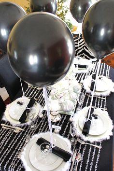 balloons/table