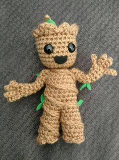 This listing is for a pdf pattern only, not a finished product. Finished baby Groot will be about 6 tall. Intructions include lots of photos and groots arms are posable. Guardians of the Galaxy is a family favorite and little Groot would make a great gift for any marvel fan. He is