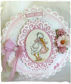 Magnolia -  Delivery from Heaven - baby girl card