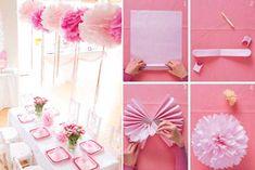 День рождения в розовом цвете