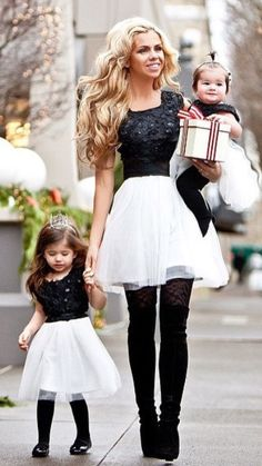 Cute dress mother daughter outfits, mom daughter, mother and child, daughters, family Mommy And Me Outfits, Family Outfits, Kids Outfits, Cute Outfits, Matching Outfits, Mother Daughter Fashion, Mom Daughter, Daughters, Little Fashionista