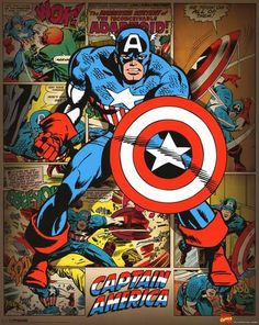 Marvel Comics - Captain America (Retro) Minipôster