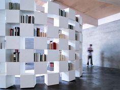 Amazing plasterboard book wall