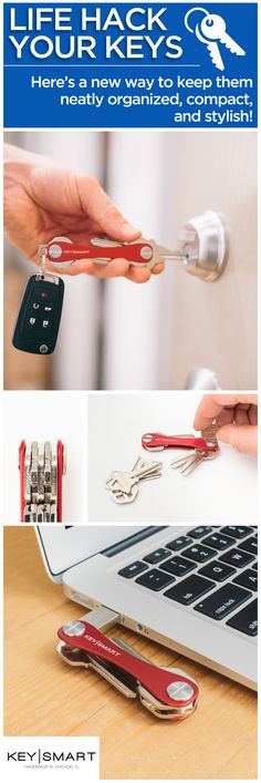 Why continue fiddling with your key ring when you could use a super easy key organizer? Key Smart is the best alternative to that mess of keys in your pocket. It holds a USB drive, bottle opener, and other devices, so it essentially changes your key ring into a multi-tool. A great life hack for anyone who likes to keep things locked down!