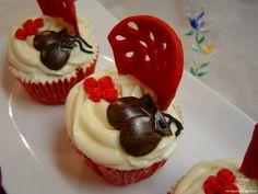 Cupcakes flamencos   La cocinita de Marisalas